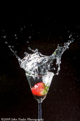 water drop test, strawberry