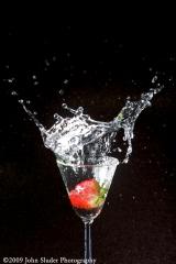 water drop test, strawberry