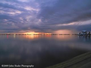 Sunset in Melbourne Florida