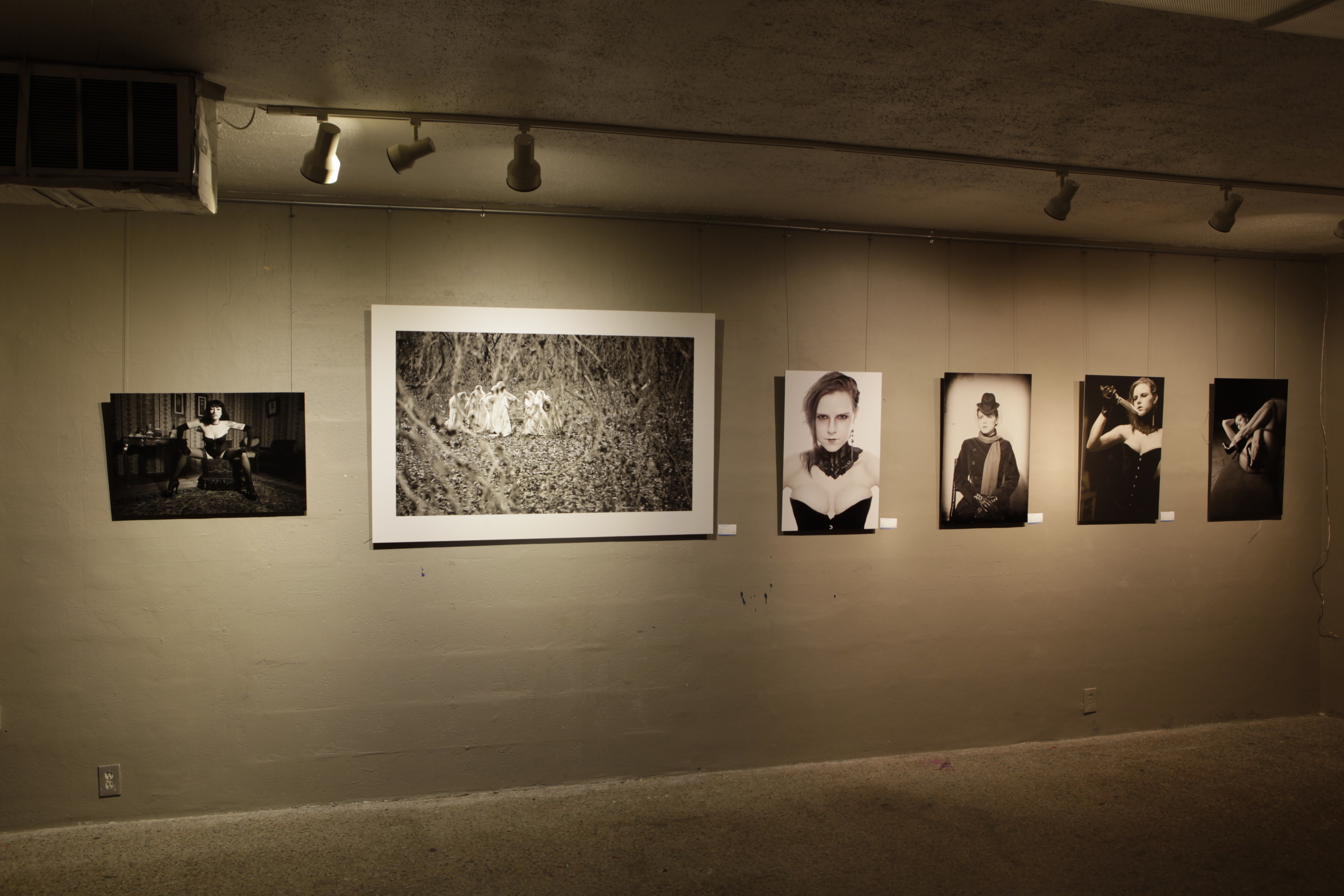 Some of my work on display at Off Center Art Center